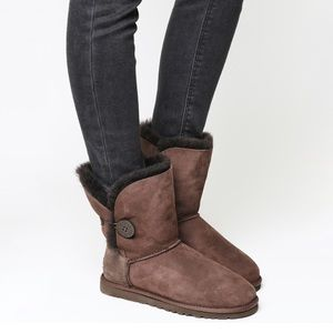 Ugg  Bailey Button Chocolate Boots